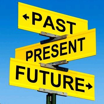 標識 過去 現在 未来